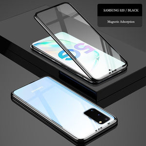 360° full body magnetic tempered glass  cases for samsung s20 ultra plus