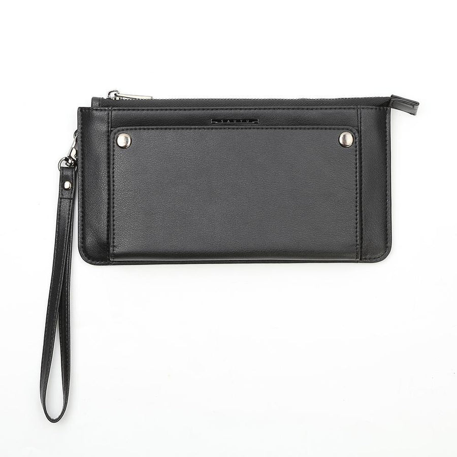 Universal Leather Phone Wallet Case With Wrist Strap