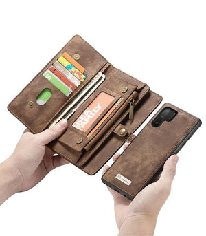 Ucord For Samsung Detachable 2-in-1 Zipper Wallet Case