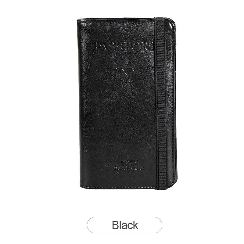 Multi-Purpose RFID Blocking Travel Passport Wallet