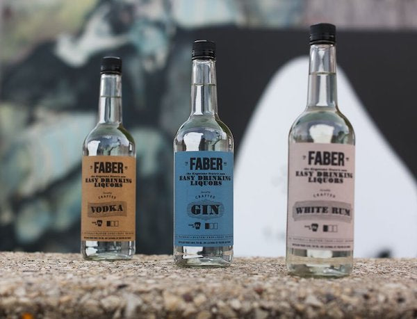 Faber Liquors Products Vodka, Gin, and White Rum