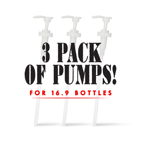 3 PUMP Dispensers - for 16.9 bottles