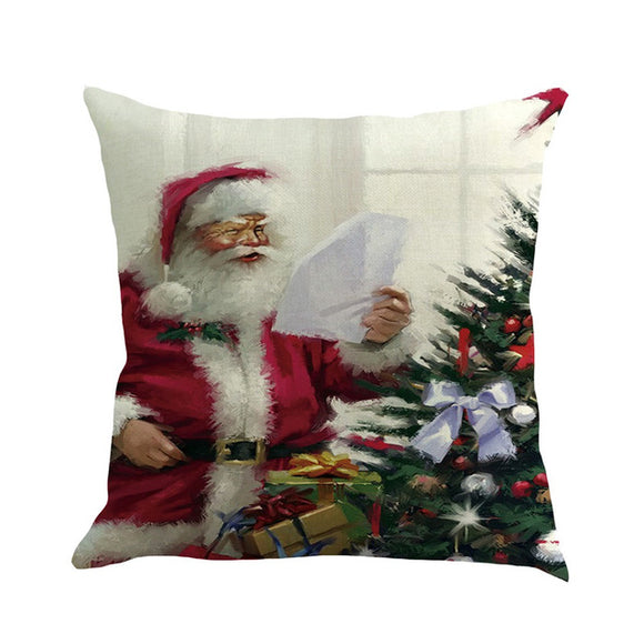 1pc Happy Christmas Pillow Cover Xmas Pillowcase