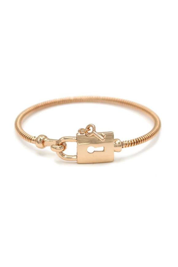 Metal Lock And Key Bracelet