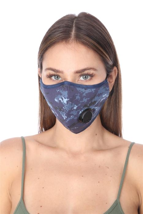 FASHION MASK O/TY002 NAVY MULTI PRINT FILTER FACE MASK