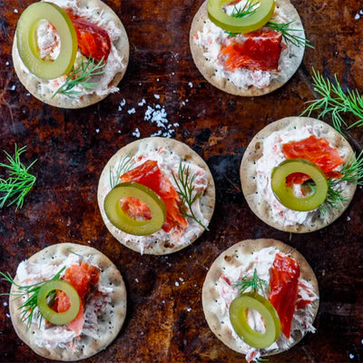 Dill Kelp Pickle Salmon Spread