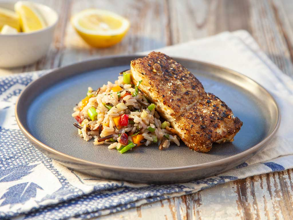 Savory Seed-Crusted Fish Fillets