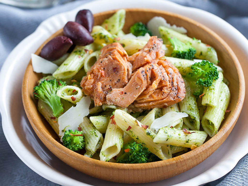 Wild Pink Salmon and Broccoli Penne