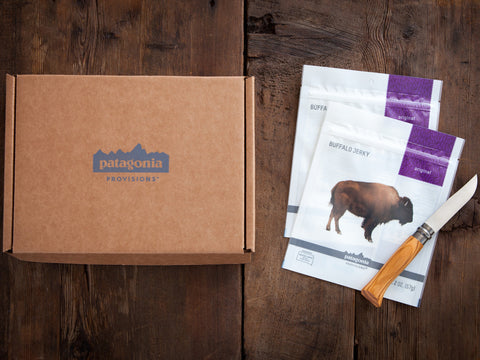 Patagonia Provisions Prairie Gift Box with Buffalo Jerky and Opinel® No. 8 Knife