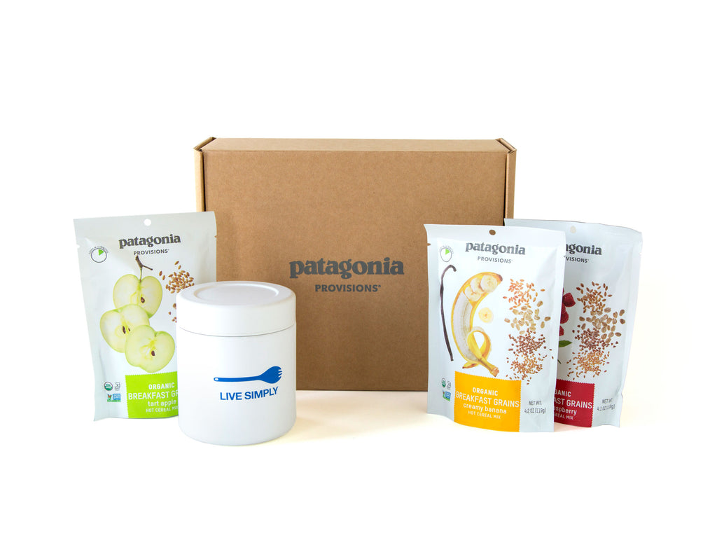 Breakfast To-Go Gift Box, Breakfast Cereals, and MiiR® Canister on a white background