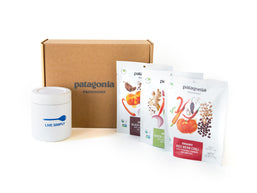 Contents of the Meals To Go Box laid out on white background