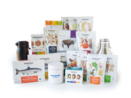 Patagonia Provisions Shareable Feast Deluxe Box contents displayed on a white background