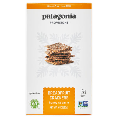 Patagonia Provisions Honey Sesame Breadfruit Crackers box front
