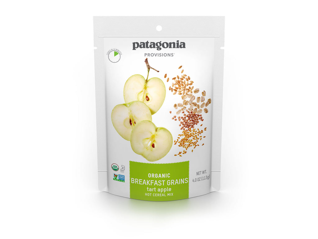 Patagonia Provisions Breakfast Grains Tart Apple Package on white background