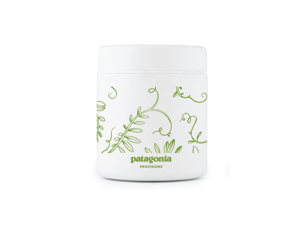 White MiiR® canister with Lentil Illustration in green