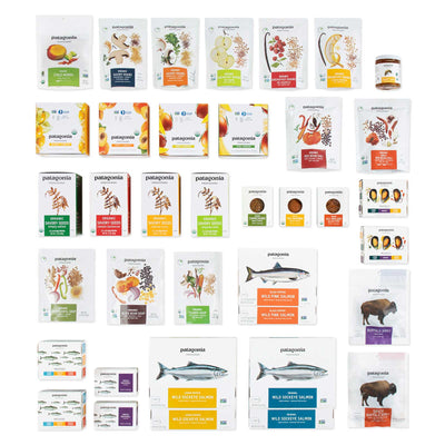 Contents of the Feed The Family Gift Box displayed on a white background