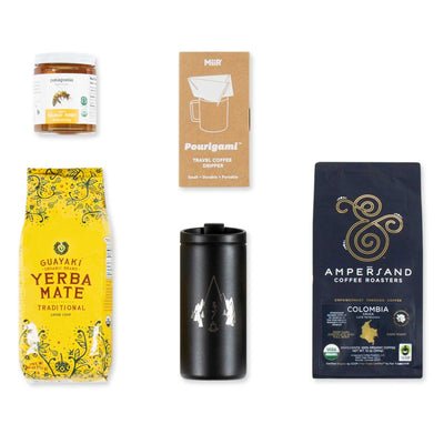 Patagonia Provisions' Hot Drinks Box contents on white background