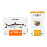 Patagonia Provisions Wild Pink Salmon and Bread Fruit Crackers box fronts