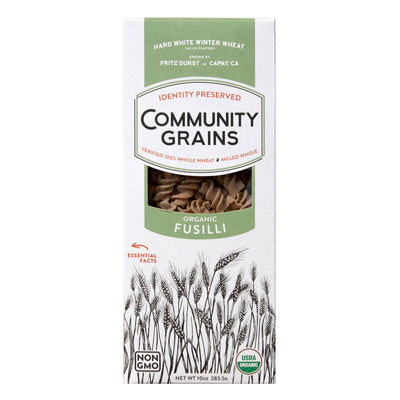 Community Grains Organic Fusilli package front