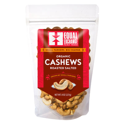 Equal Exchange Organic Roasted Salted Cashews package front