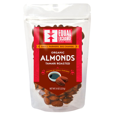 Equal Exchange Organic Tamari Almonds package front