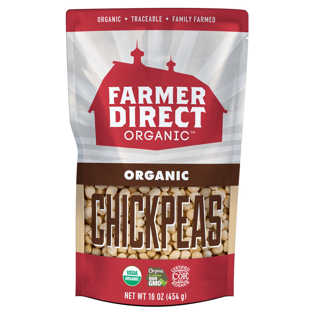 Farmer Direct Organic Chickpeas package front