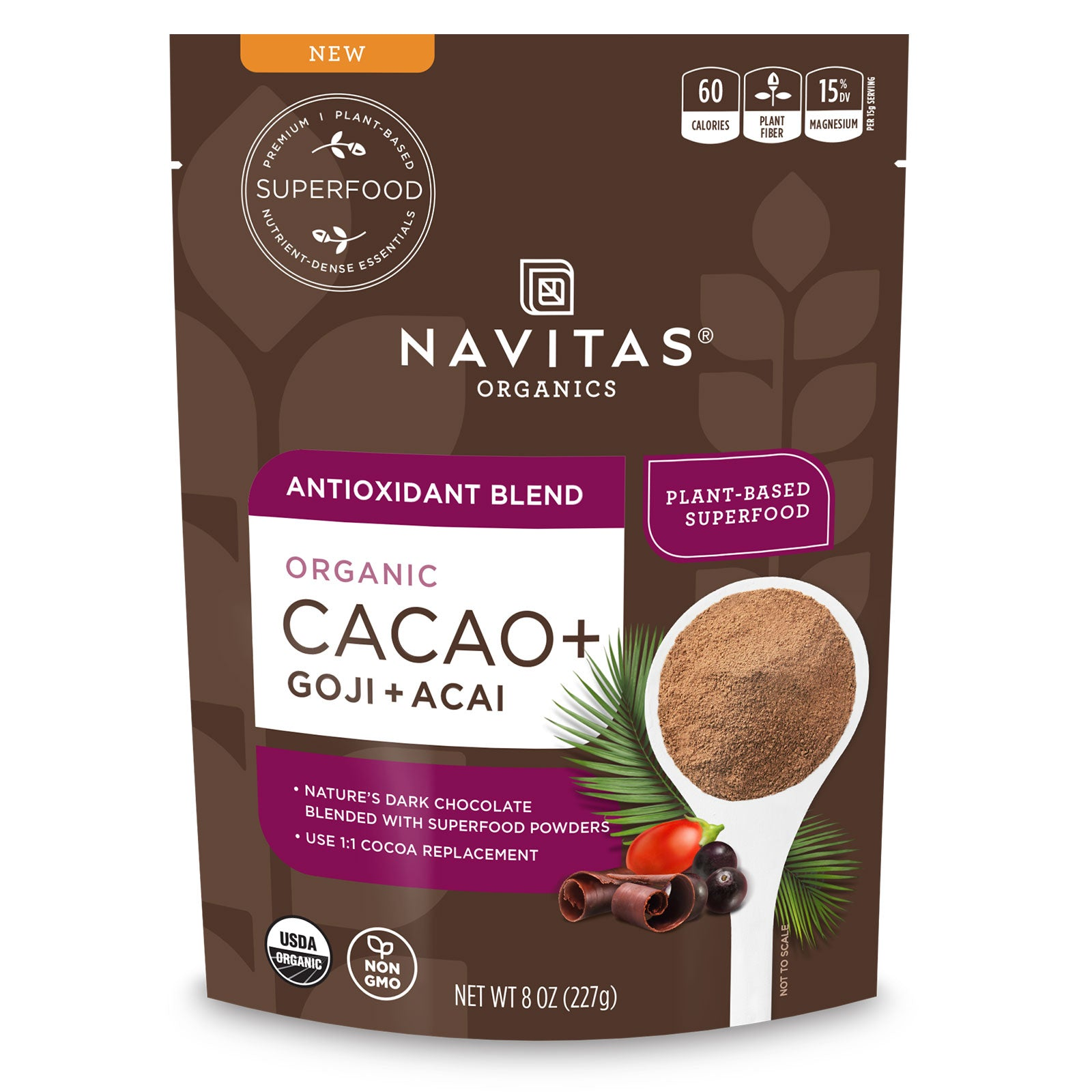 Navitas Organics Cacao Antioxidant Blend package front