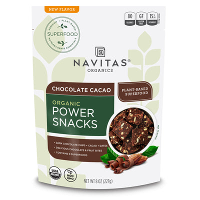 Navitas Organics Chocolate Cacao Power Snacks package front