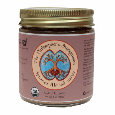 The Philosopher's Stoneground Crunchy Almond Butter jar front
