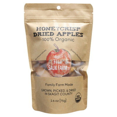 Sauk Farms Honeycrisp Dried Apples package front