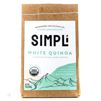 SIMPLi White Quinoa package front
