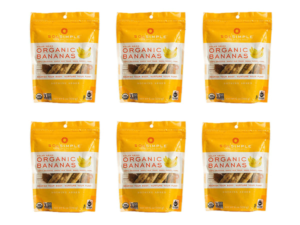 6 Packs of Sol Simple Dried Bananas