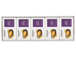 Provisions smoked mussels package front - white box with purple label