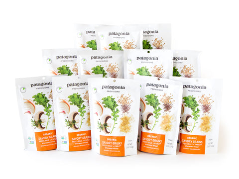 Patagonia Provisions Green Kale and Kamut Khorasan wheat savory grains set of 12 packages