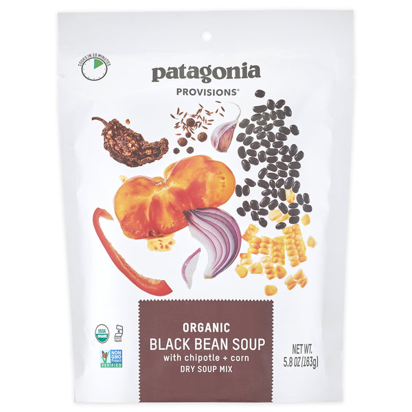 Patagonia Provisions 100% certified organic black bean soup dry mix package