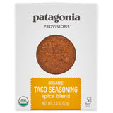 Front of Box of Taco Seasoning Spice Blend package - taco mix for vegetables and taco meat seasoning