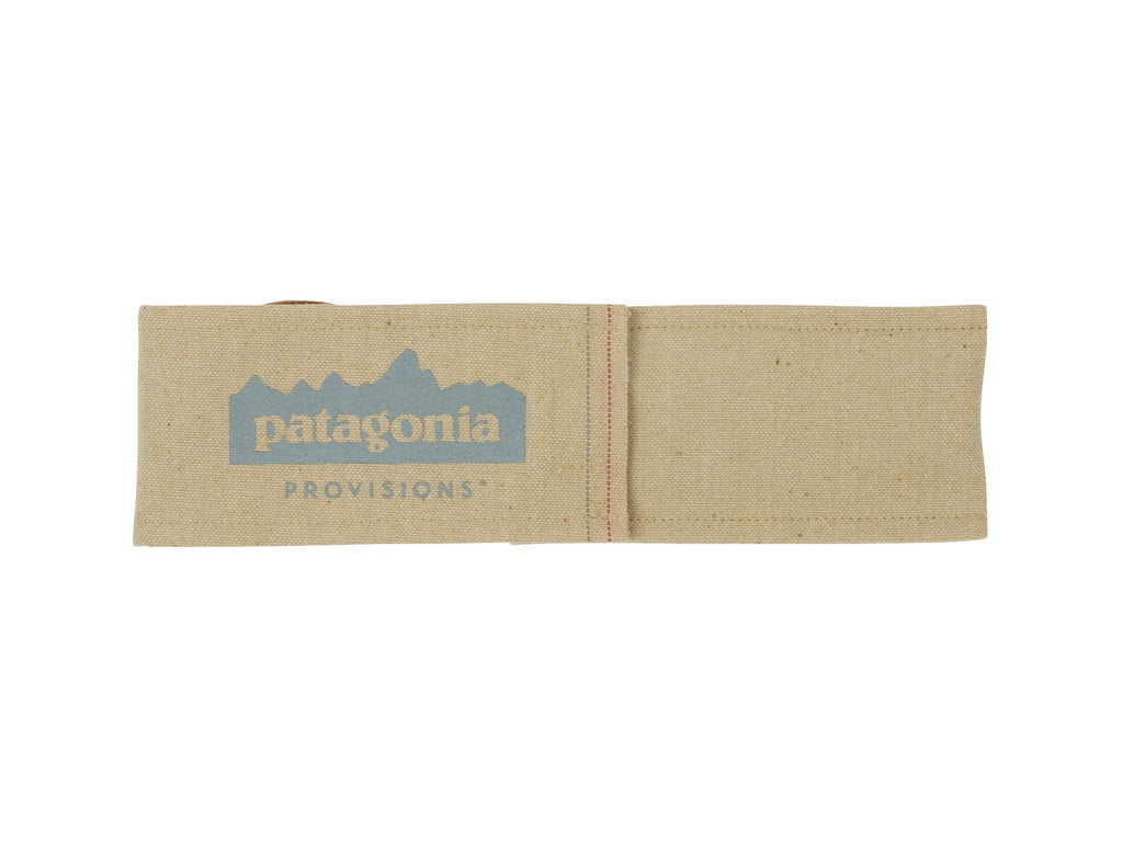 Patagonia Provisions Japanese Reclaimed Wood Utensil Kit Case front with gray logo