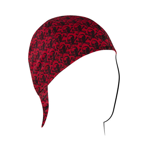 CPW596 Welder's Cap, Cotton, Skull Pattern