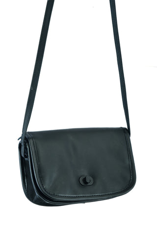 DS8500 Women's Black Construction Leather Purse/Shoulder Bag