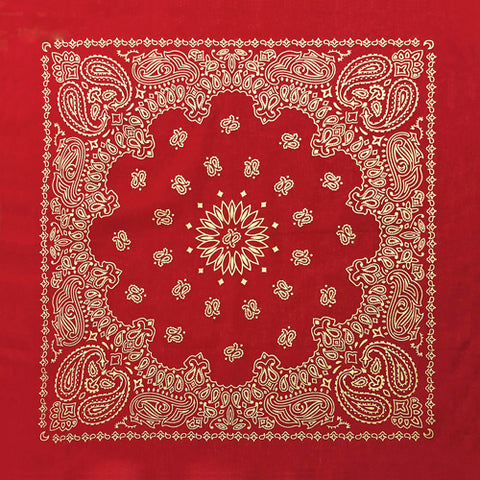 BD2519 Red Metalic Paisley