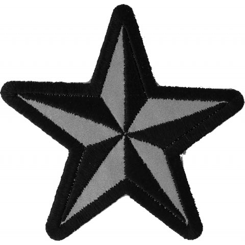 P1479REF Reflective Nautical Star Novelty Iron on Patch