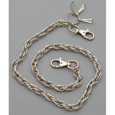 WC-1113 Chrome Wallet Chain with multiple links, 30 inches long