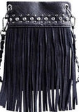 CHIC415-GREY crossbody handbag - Top Bling FRINGE