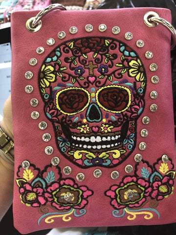 CHIC866-FU Skull design embroidery
