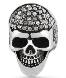 R155 Stainless Steel Diamond Head Biker Ring