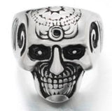 R194 Stainless Steel Brain Saw Biker Ring