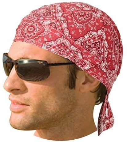 HW2614 Headwrap Paisley Red