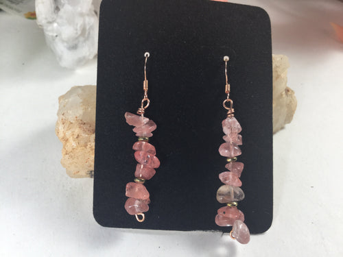 Pink Quartz Paradise Earrings II Limited Edition