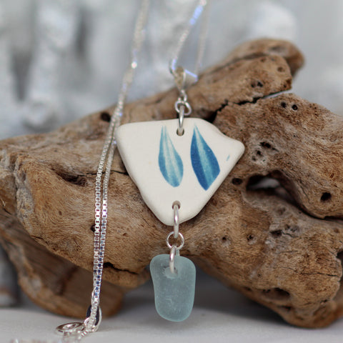 Sea pottery jewelry, sea pottery necklaces and earrings