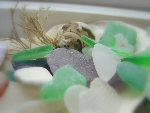 sea glass gathered from Cape Breton Island